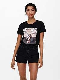 Only čierne dámske tričko Lana