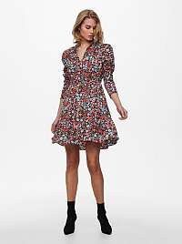 Only čierne kvetované šaty Sylvia