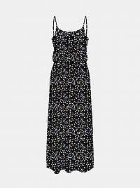 Only čierne maxi šaty so vzormi Nova