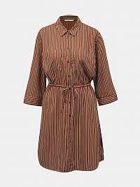 Only hnedé košeľové šaty Tamari