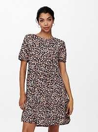 Only hnedé kvetované šaty Pella