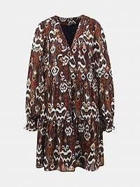 Only hnedé šaty so vzormi