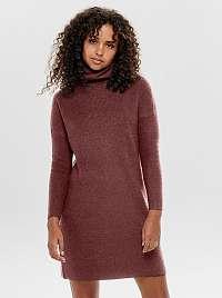 Only hnedé svetrové šaty Jana