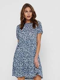 Only modré kvetované šaty