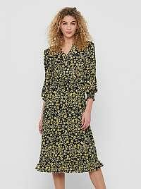 Only žlté kvetované šaty Pella