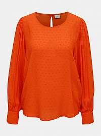 Oranžová voľná blúzka Jacqueline de Yong Malone