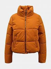 Oranžová zimná prešívaná bunda ONLY Dolly