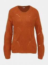 Oranžový sveter Jacqueline de Yong Daisy