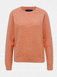 Oranžový žíhaný sveter VERO MODA doff