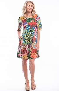 Orientique farebné letné šaty Jaipur so vzormi
