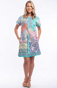 Orientique farebné letné šaty Madeira so vzormi