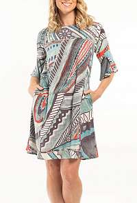 Orientique farebné šaty Faraga s vreckami