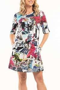 Orientique farebné šaty Mykonos s vreckami