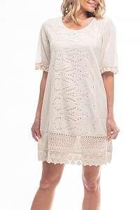 Orientique smotanové/krémové letné šaty Sleeve Sand