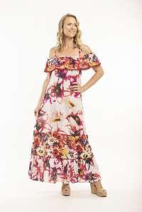Orientique svetlo ružové maxi šaty Serifos