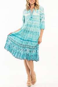 Orientique tyrkysové šaty Skolepos