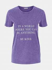 Pieces fialové dámske tričko Anything