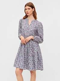 Pieces fialové kvetované šaty Mikka