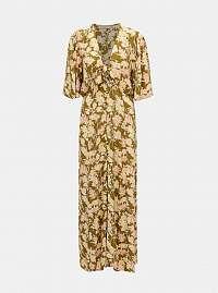 Pieces khaki maxi šaty Polly
