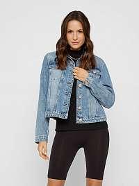 Pieces modré džínsová bunda Lou