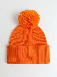 Pieces oranžové čiapka Ilma s brmbolcom