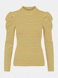 Pieces žlté dámske tričko