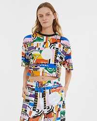 Puma farebné dámske tričko PI AOP