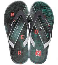 Rider farebné pánske žabky R1 Energy Ad Grey/Green/Orange -
