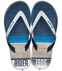 Rider modré pánske žabky R1 Energy Ad White/Blue -