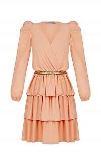 Rinascimento marhuľové šaty so zlatým opaskom