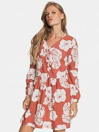 Roxy oranžové kvetované šaty