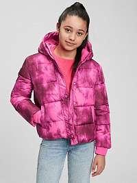 Ružová dievčenskú bunda classic warmest GAP
