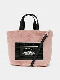 Ružová kabelka s nášivkou Diesel