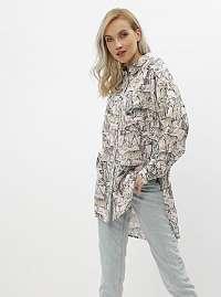 Ružová vzorovaná košeľa Noisy May Jane
