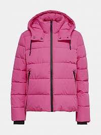 Ružová zimná prešívaná bunda ONLY