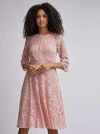 Ružové krajkové šaty Dorothy Perkins