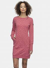 Ružové vzorované mikinové šaty Ragwear