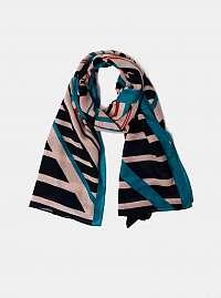 Ružovo-modrá vzorovaná šatka Pieces Nubi