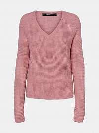 Ružový sveter VERO MODA Leanne