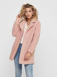 Ružový zimný kabát ONLY