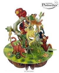 Santoro papierová 3D dekorácia Monkeys