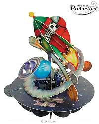 Santoro papierová 3D dekorácia Out In Space