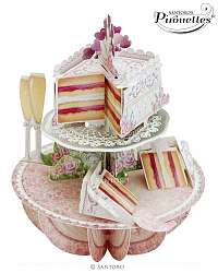Santoro papierová 3D dekorácia Wedding Cake
