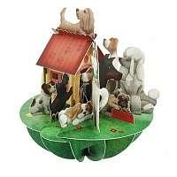 Santoro papierová 3D dekorácia Dogs&Kennel