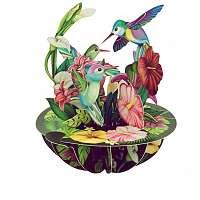 Santoro papierová 3D dekorácia Hummingbirds