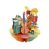 Santoro papierová 3D dekorácia Music