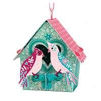 Santoro papierová závesná dekorácia Bird House Love Birds