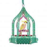 Santoro papierová závesná dekorácia Birdcage Cockatoo