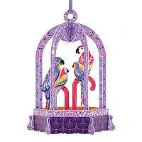 Santoro papierová závesná dekorácia Birdcage Macaws