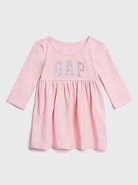 Šaty GAP Logo Ružová